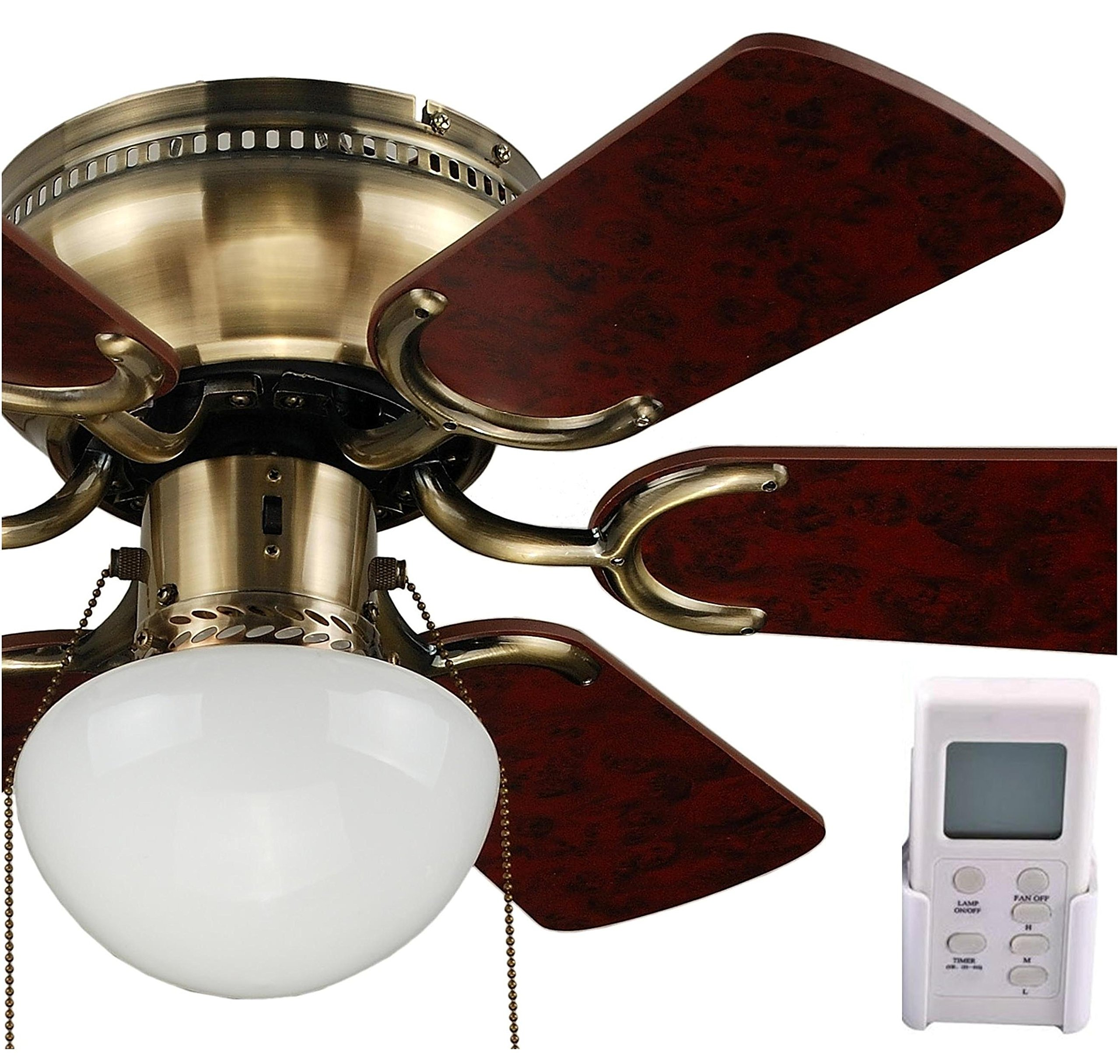 OCEAN LAMP OL-TRADITIONAL CEILING FAN WITH REVERSIBLE BLADES AND LIGHT