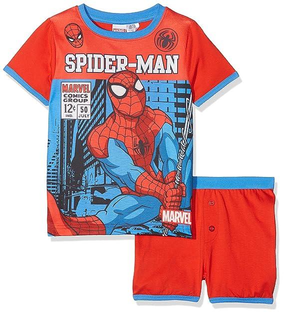Spiderman Marvel Comics, Conjuntos de Pijama para Niños: Amazon.es: Ropa y accesorios