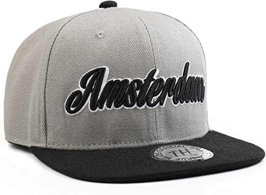 Amsterdam gris/negro unisex snapback Gorra de béisbol por True ...