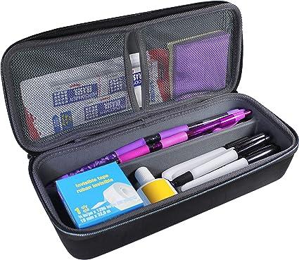 Estuche organizador Tudia vacío rígido de EVA para artículos de papelería, bolígrafos, lápices y rotuladores. Con asa de transporte: Amazon.es: Oficina y papelería