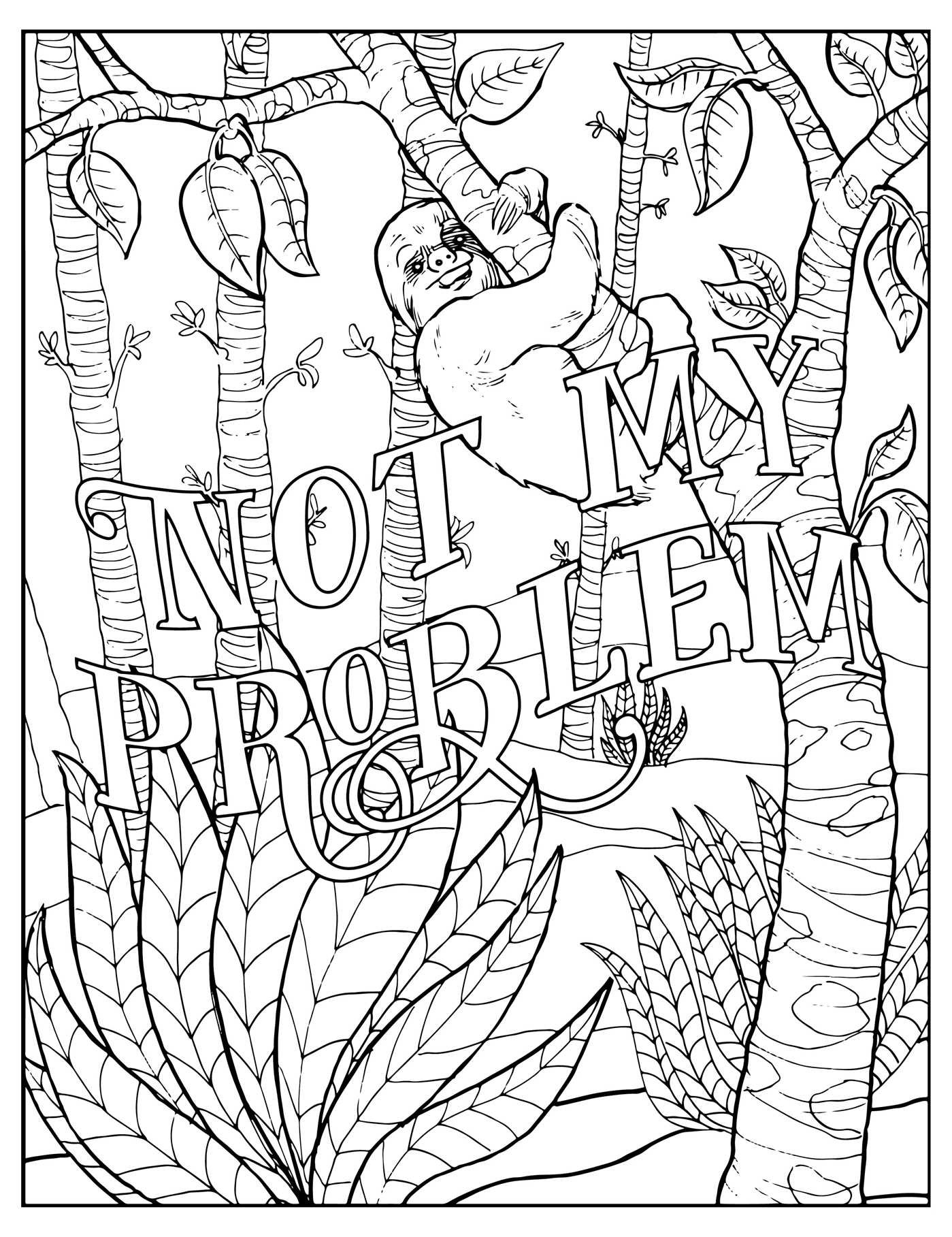 fuck off im coloring unwind with 50 obnoxiously fun swear word coloring pages amazonca dare you stamp co books - Coloring Book Page