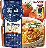 カゴメ 糖質想いの 押し麦がゆ ごろっとお豆と完熟トマト 250g×5袋