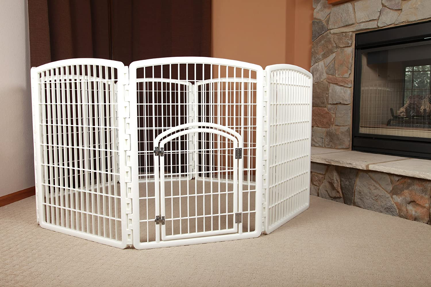 Amazon.com : IRIS 34\'\' Exercise 8-Panel Pet Playpen with Door ...