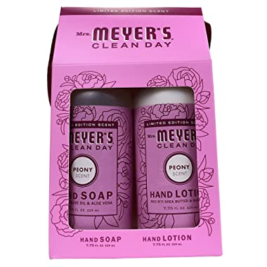 Mrs. Meyer's Clean Day Hand Gift Set, Peony: Hand Soap (7.75 oz) + Hand Lotion (7.75 oz)