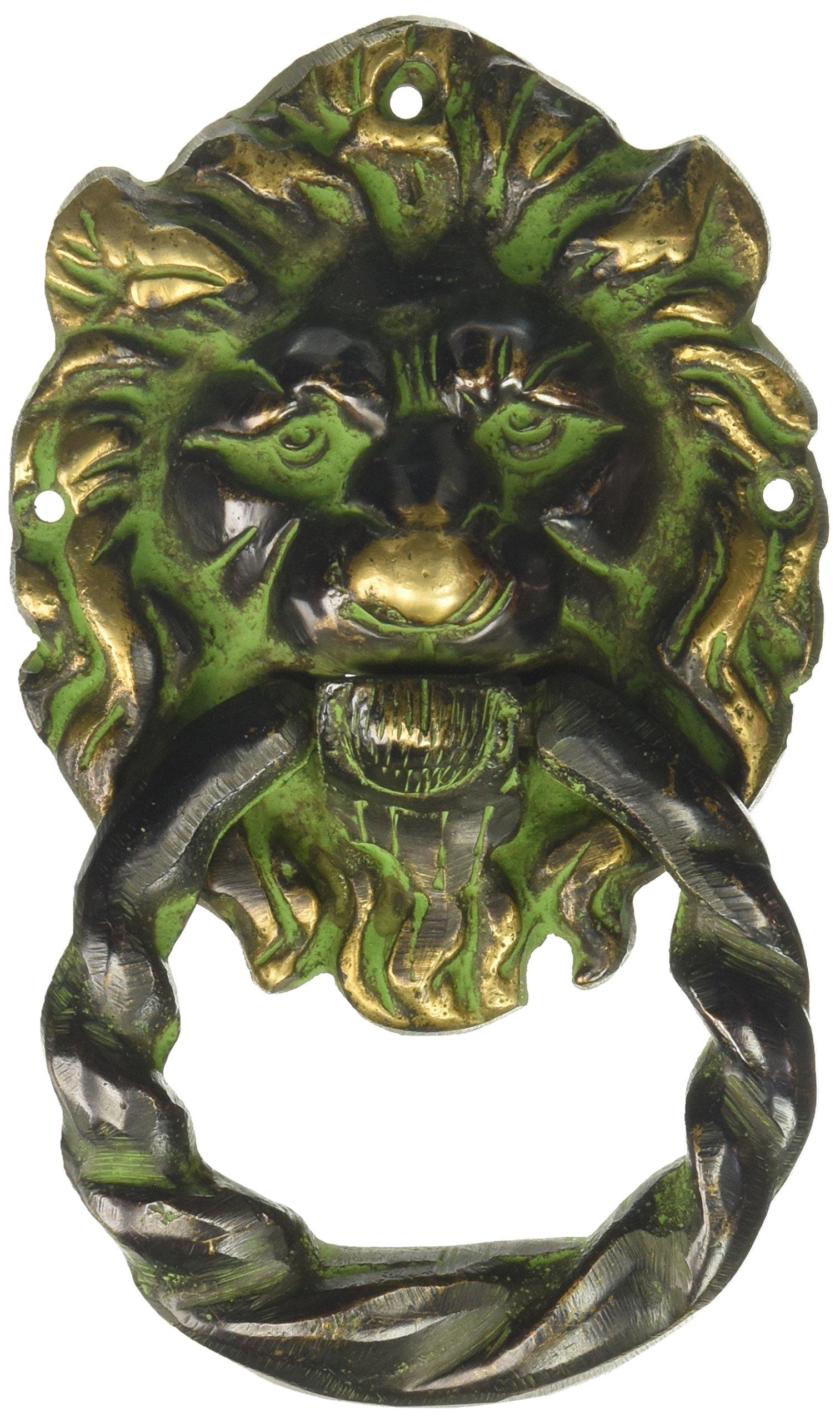 Hand Made Lion Head Unique Brass Black Home Decor Collectible
