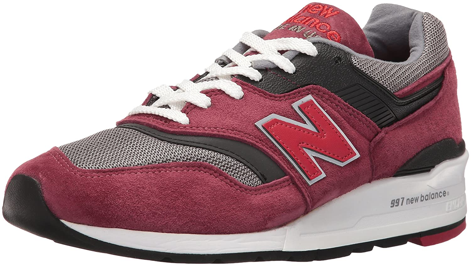 premium selection aa357 3d70e New Balance Men M997CRG - Made in USA (Burgundy/Gray)