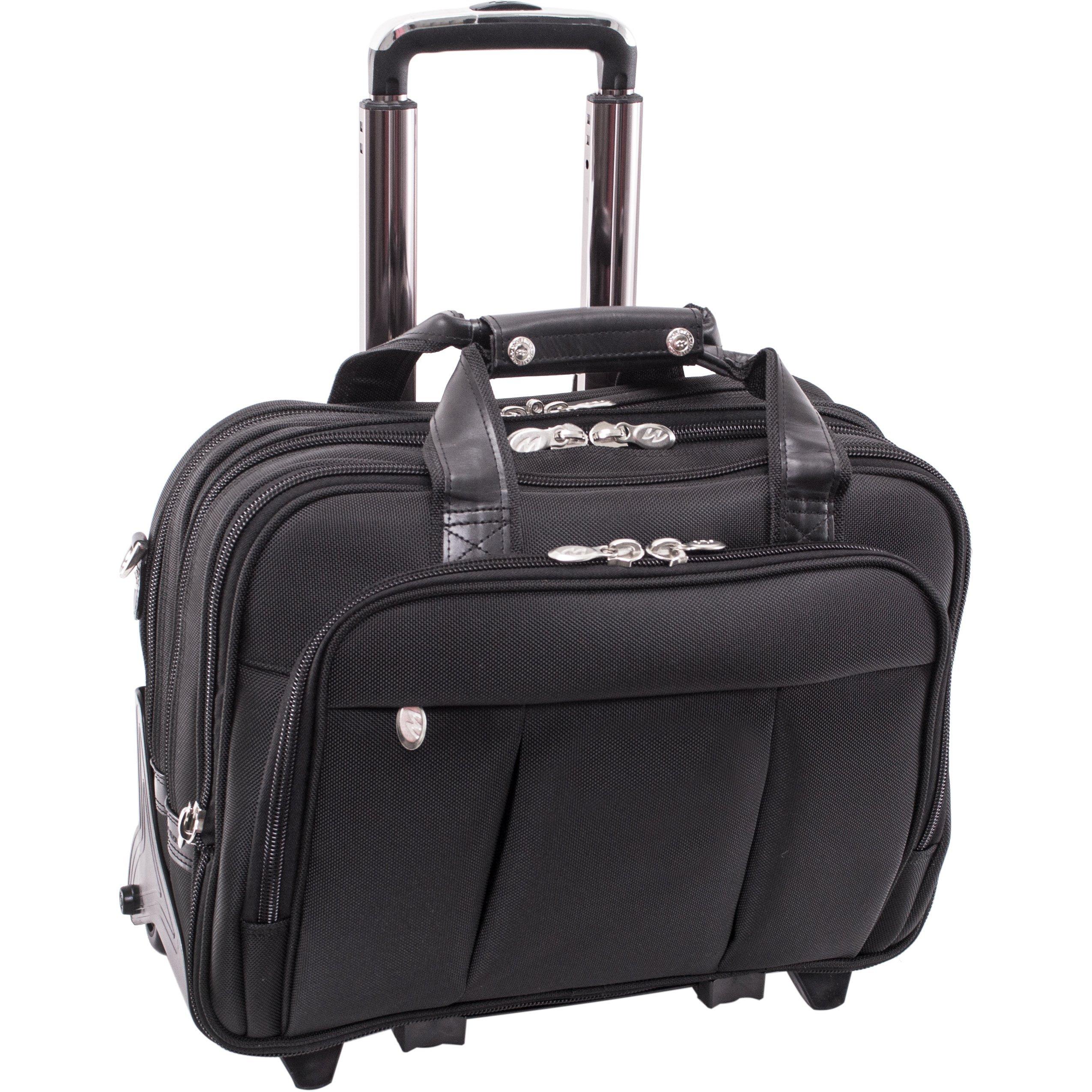 McKleinUSA Damen 70715 R Series Nylon Detachable-Wheeled Laptop Case (Black)