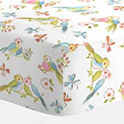 Carousel Designs Love Birds Crib Sheet