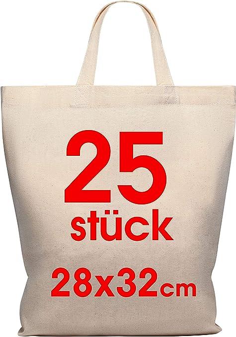 Funda de algodón 28 x 32 cm 25 unidades - Yute bolsa Medio - Natural farmacia funda, bolsa,