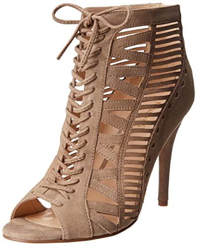 Nine West Women's Angellica Dress Sandal,Taupe Suede,10.5 ...