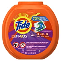 Tide PODS Liquid Detergent Pacs, Spring Meadow, 72 count