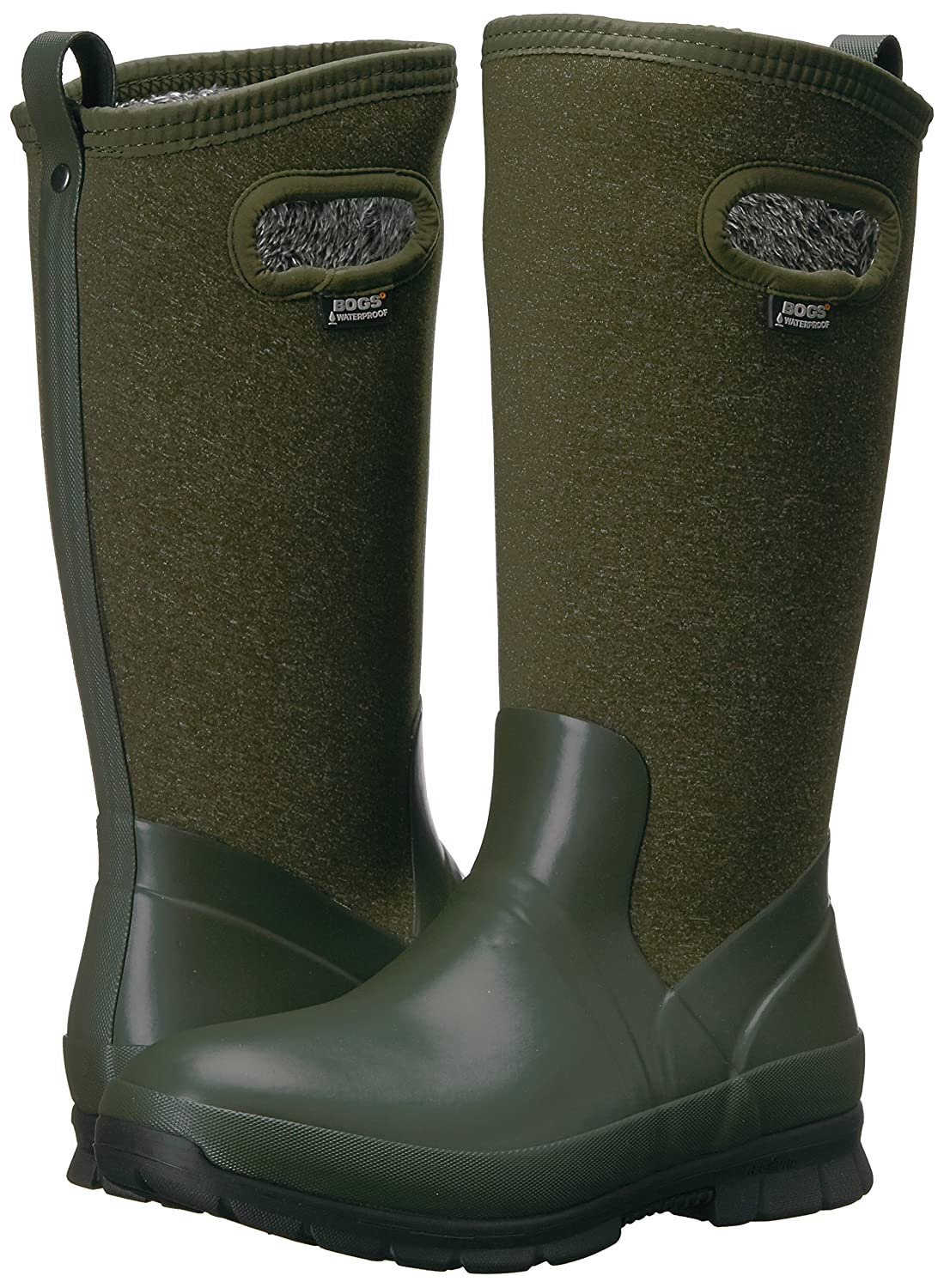 Bogs Women's Crandall Tall Snow Boot B01MSAQYIR 6 B(M) US|Dark Green/Multi