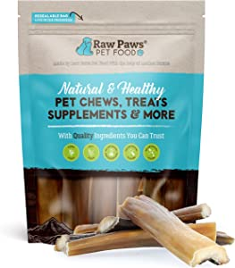 Raw Paws Natural Rawhide Alternative Dog Chews - No Hide Dog Chews Made from Beef Head Skin - Beef Cheeks for Dogs - No Rawhide Dog Chew Chips for Dogs - Digestible Rawhide Free Dog Treats