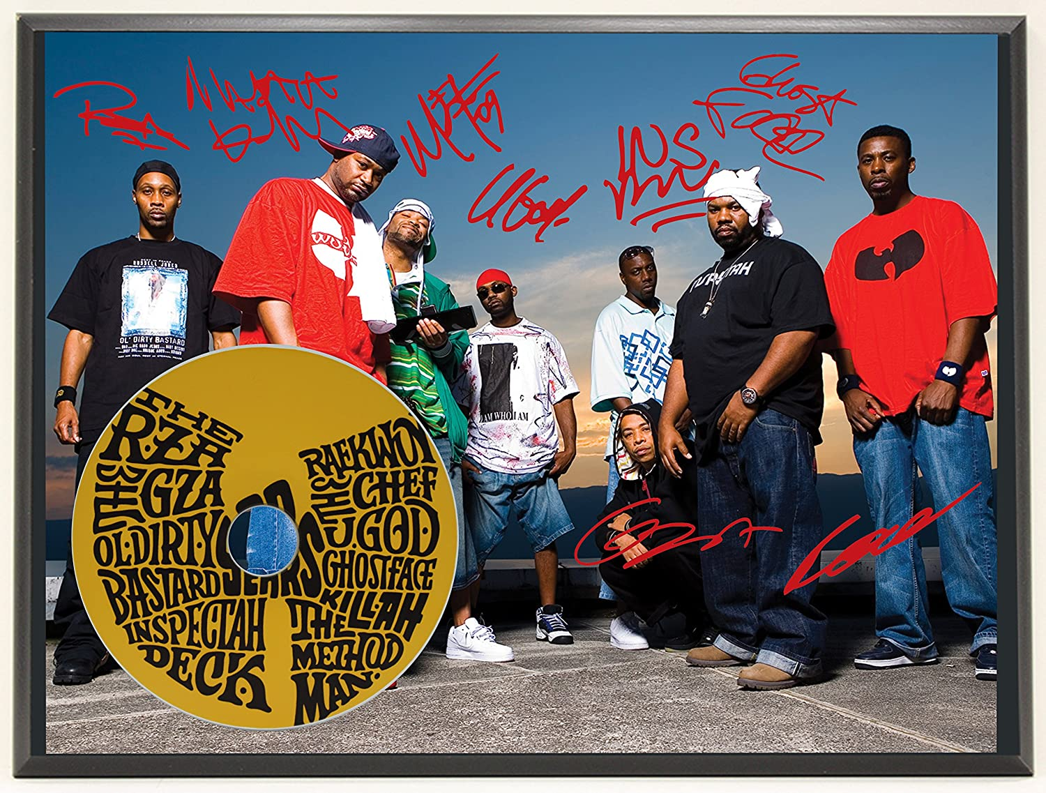 Wu-Tang Clan Limited Edition Signature Series Picture Disc CD Collectible Music Display Gift