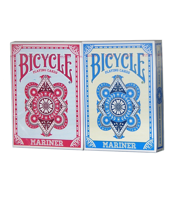 BICYCLE MARINER PLAYING CARDS, 2 DECK SET