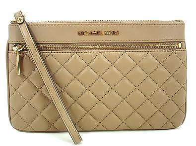 MICHAEL Michael Kors Jet Set Item Quilt Leather Large Zip Clutch ... b3fa183b75acc