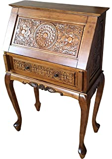 french style furniture handcarved writing bureau writing desk shabby chic
