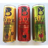 Petey's Bing Variety Pack - Cherry, Raspberry, Crisp Apple - 12fl.oz (Pack of 9)