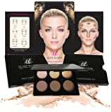 Luxe Elixir Contour Kit - Premium Highlighting and Contour Palette with Pigmented Face Powder - Step-by-Step Contouring Guide Included