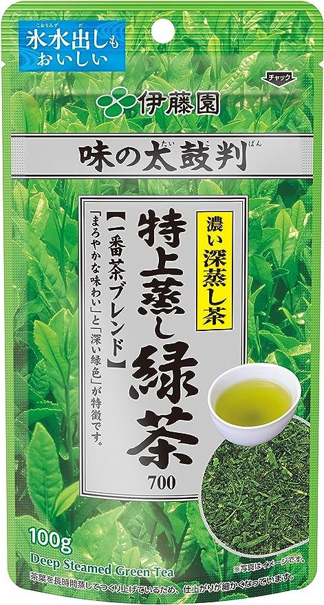 伊藤園 味の太鼓判 特上蒸し緑茶700 100g