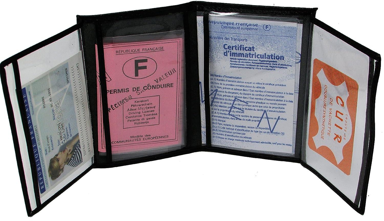 le dernier b26a6 24c7e MAMJACK® - Porte papier voiture en cuir - format 4 volets ...