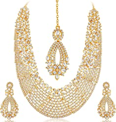 Sukkhi Choker Necklace for Women (Golden)(2100NADL3000-AMZ)