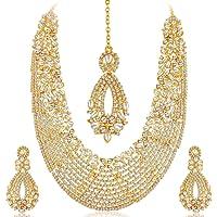 Sukkhi Choker Necklace for Women (Golden)(2100NADL3000-AMZ)
