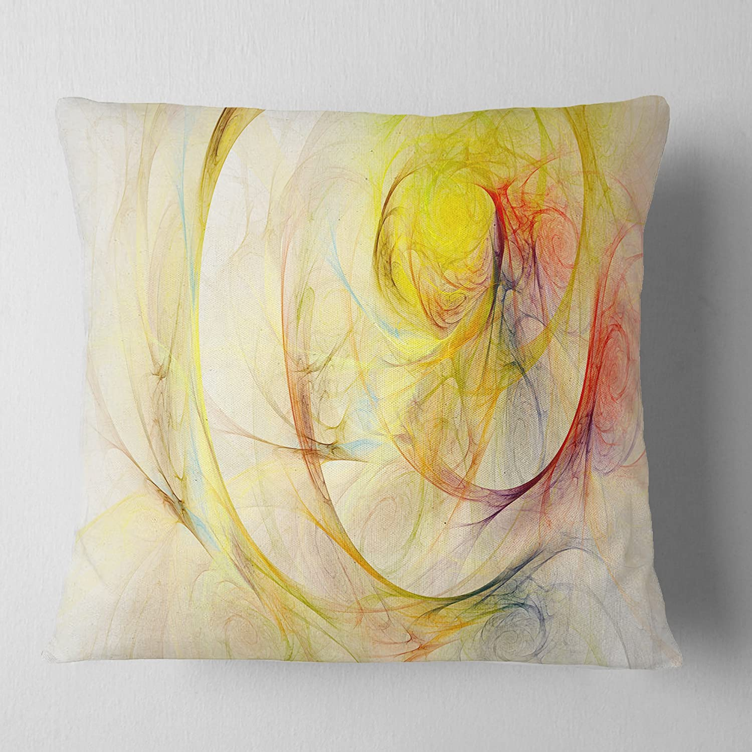 Designart Cu7699 18 18 Yellow Storm Sky Abstract Cushion Cover For Living Room Sofa Throw Pillow