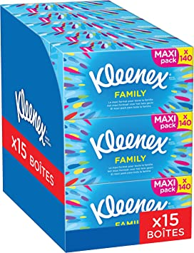 Kleenex Family Pack de 15 caja de pañuelos de papel: Amazon.es ...