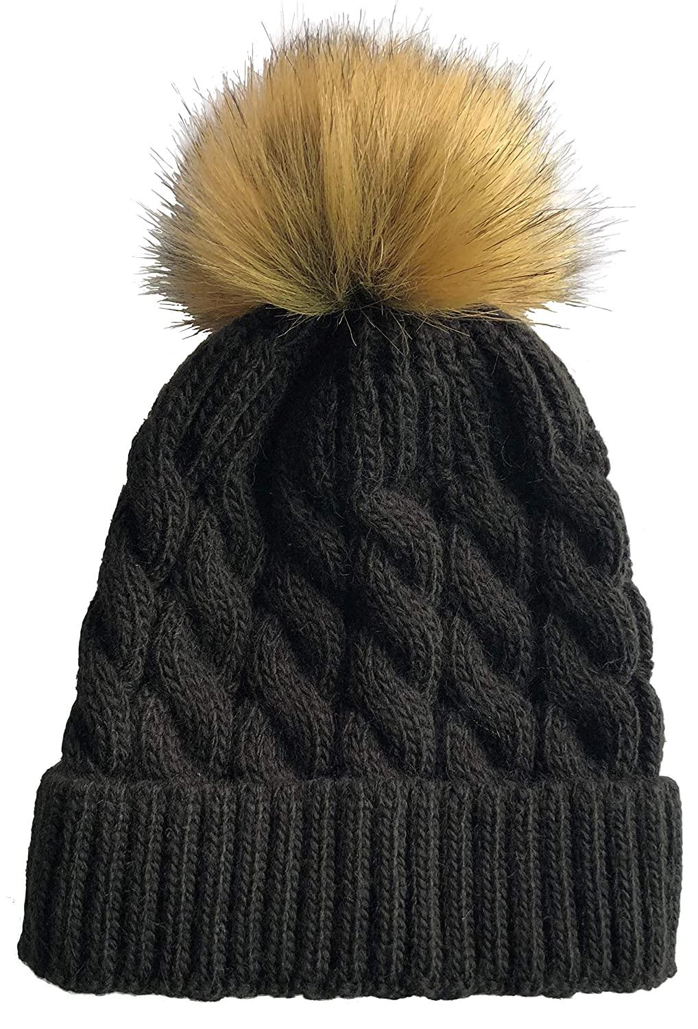 1ee99d18f9e SOFT GRIP Women Cable Knit Slouchy Thick Winter Hat Beanie Pom Pom 1 ...
