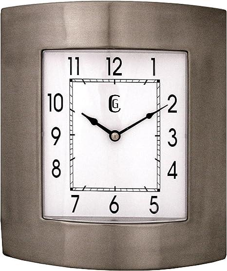 Amazon Com Geneva 10 By 11 Inch Metal Wall Clock Home Kitchen