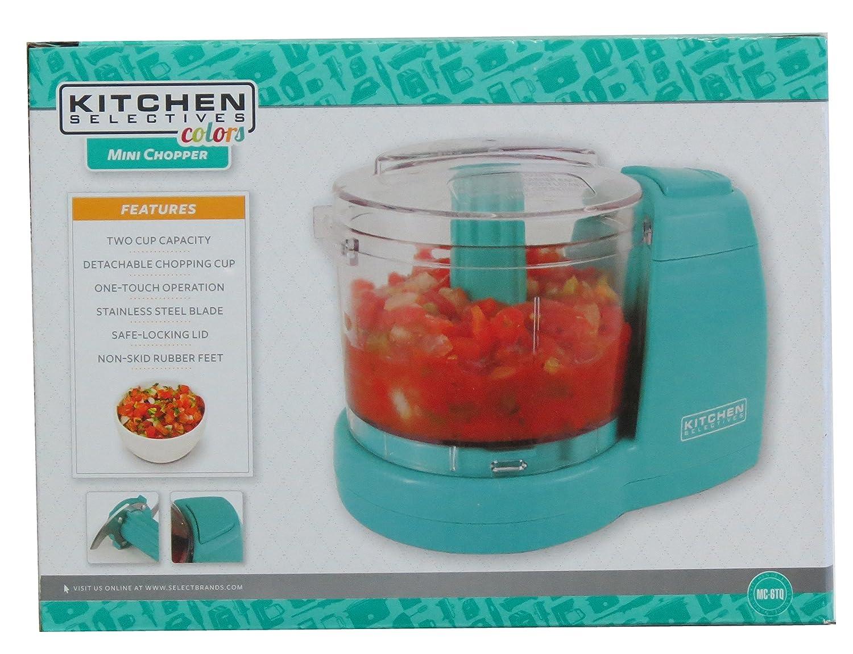 Amazon.com: Kitchen Selectives Colors Aqua Teal Mini Chopper ...