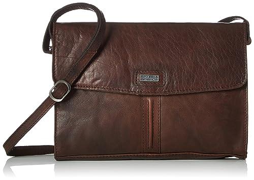 Spikes & Sparrow - Clutch, Carteras de mano Mujer, Braun (Dark Brown), 6x17x26 cm (B x H T): Amazon.es: Zapatos y complementos