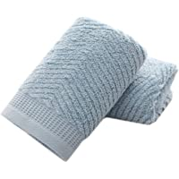 """Lovely & Colorful Cotton Hand Towels ( Light Blue, 2-Pack, 14"""" x 29"""") for Bath, Hand, Face, Gym and Spa"""