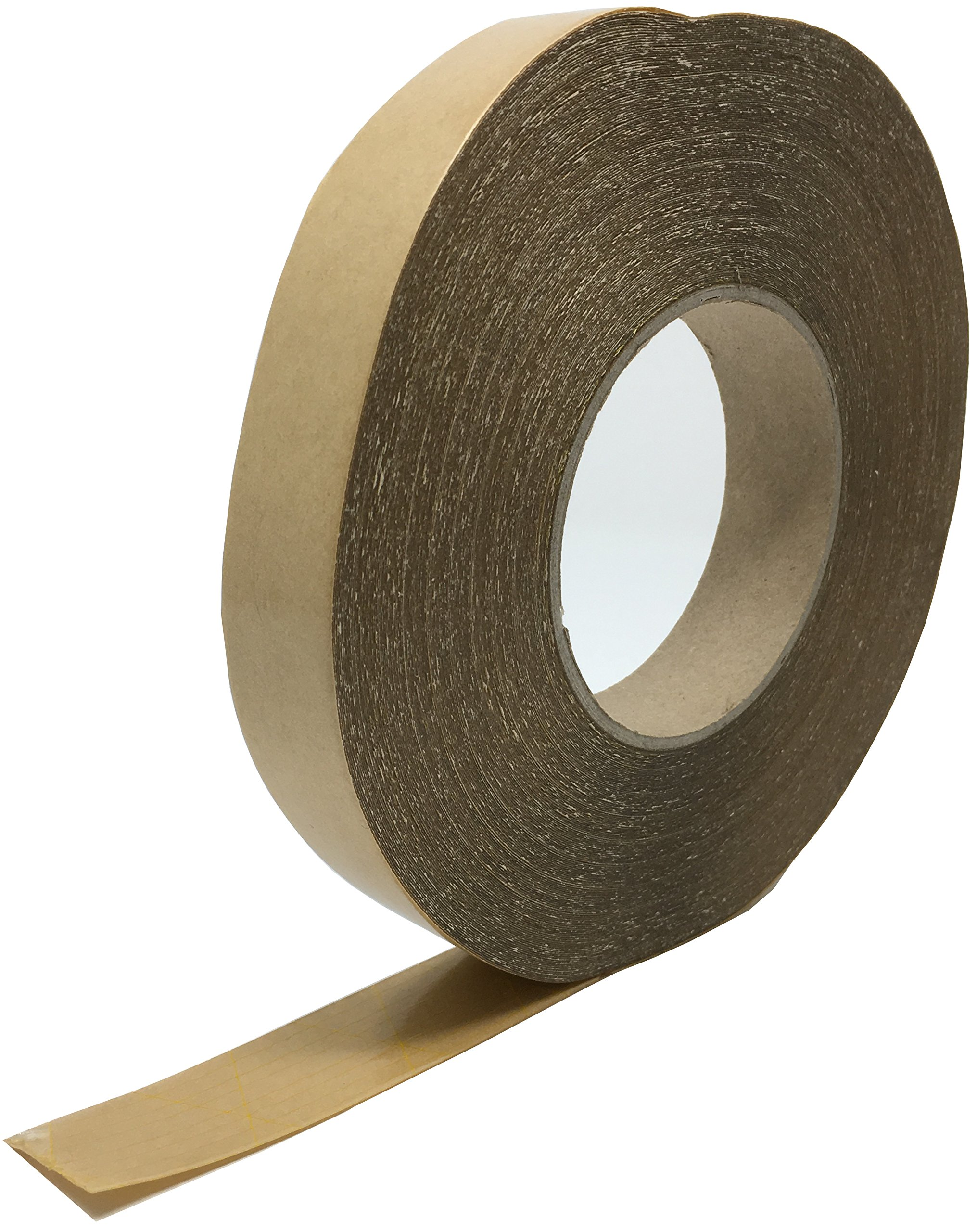 Flooring Power Tape Adhesive System - Double Sided Acrylic Adhesive Tape - Use for Carpet, Cove Base, Transitions, Vinyl, Rubber - Acrylic Adhesive Bonds Instantly - 1'' Wide X 164'' Long