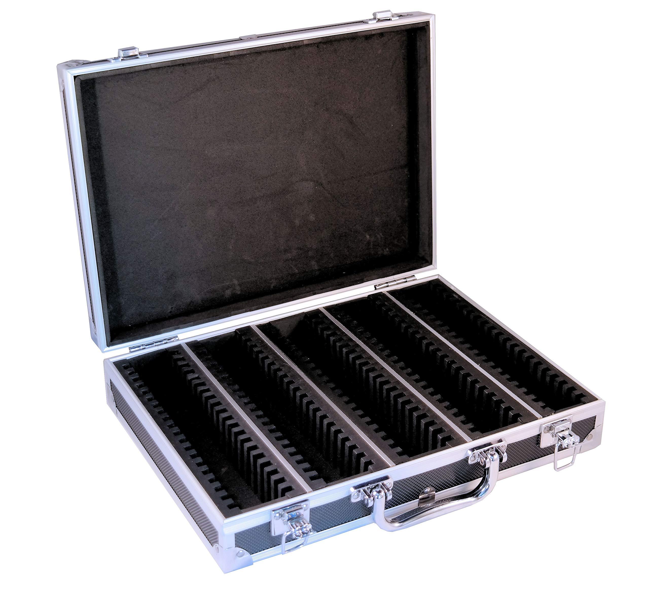 Ursae Minoris Elite Black Aluminum Box for 100 Capsule (Large or XL) or 2 x 2 Coin Holders by Ursae Minoris Display Systems