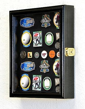 XS Golf Marker Magnet Divot Tool Display Case Cabinet Holder 98 UV Lockable, Black