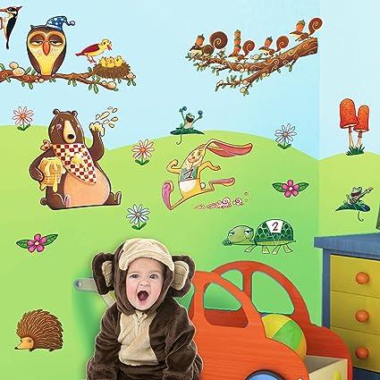 LeoStickers® - LeoKit start Il Bosco: stickers murali bambini. Set ...