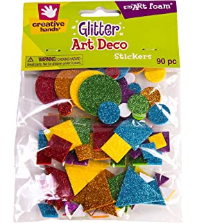 creative hands glitter foam stickers art deco