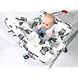 OWL and Elephant Printed Baby Shopping cart Cover (Owl)