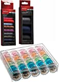 Sunbeam Bobbin Case - 25 Bobbins included With 4-400 yards Spools of Thread and 10-50 yards spools of Thread Assorted Colors