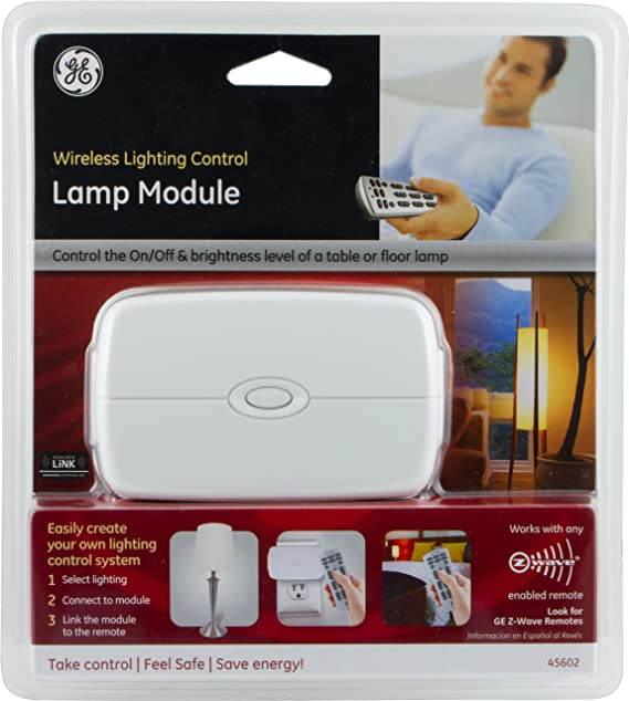 GE Z Wave Wireless Lighting Control Lamp Module With Dimmer Control, Works  With Alexa   Plug In Dimmer Switches   Amazon.com