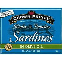 Crown Prince, Skinless & Boneless Sardines in Olive Oil, 3.75 oz