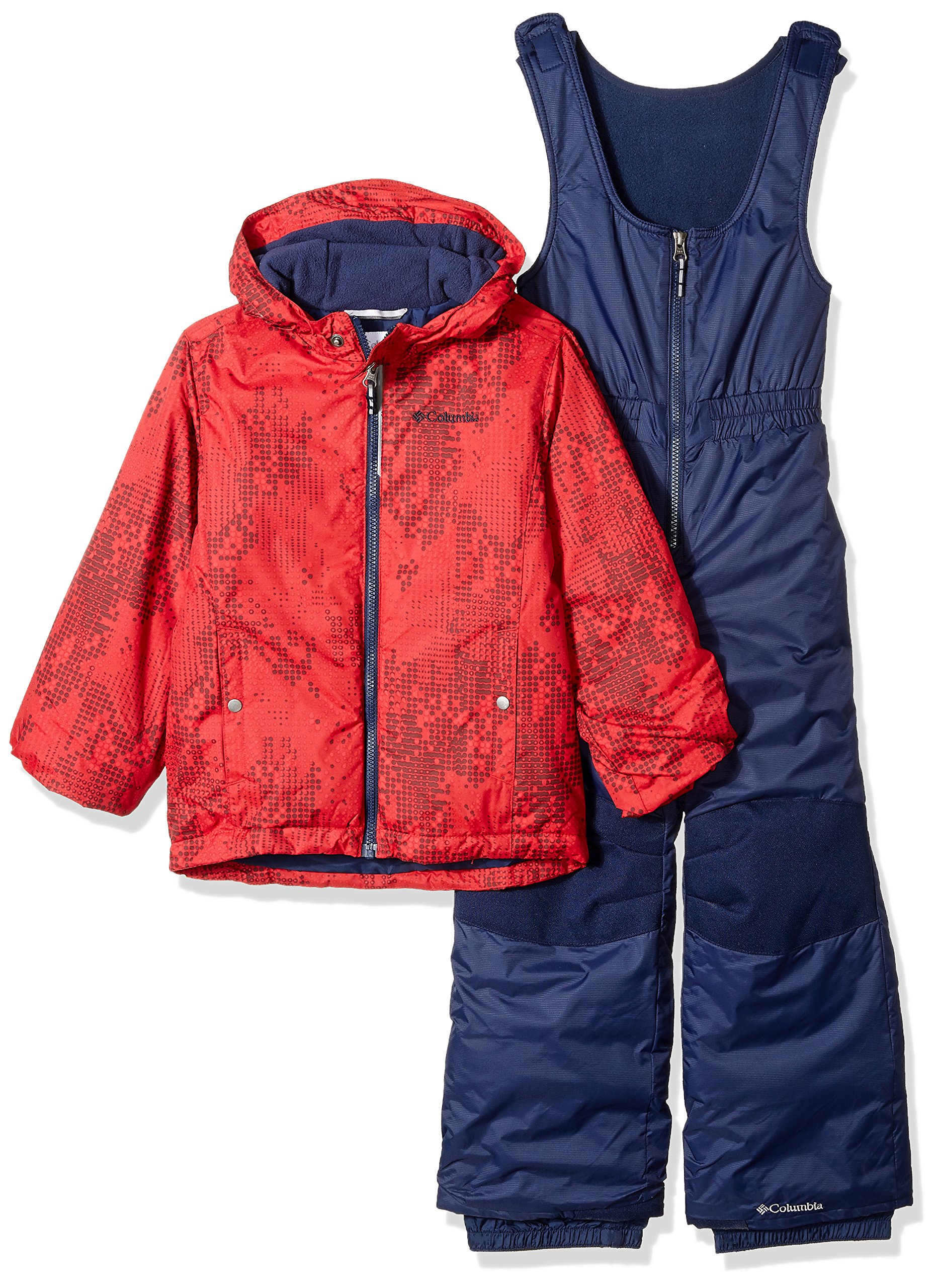 Columbia Kids' Toddler Frosty Slope Set, Mountain Red Energy Dot, 3T by Columbia