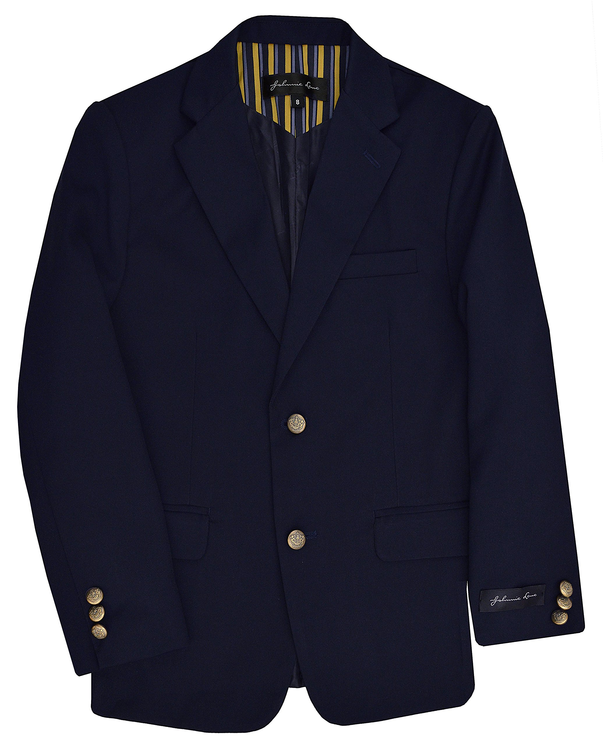 Dress Up Boys' Navy Blazer Jacket #JL30 (14, Lt. Navy)