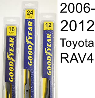 "product image for Toyota RAV4 (2006-2012) Wiper Blade Kit - Set Includes 24"" (Driver Side), 16"" (Passenger Side), 12A"" (Rear Blade) (3 Blades Total)"