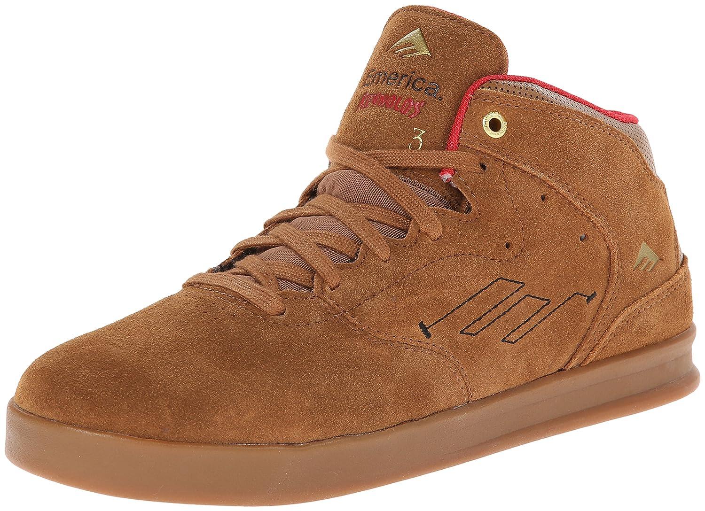 Emerica Men's The Reynolds Skate Shoe 7 D(M) US|Brown/Gum