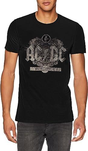 AC/DC Black Ice Camiseta para Hombre: Amazon.es: Ropa y accesorios