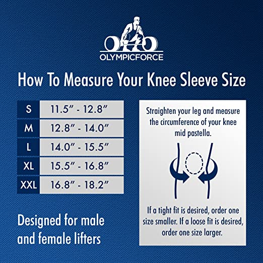 Olympic Force Knee Sleeves sizing
