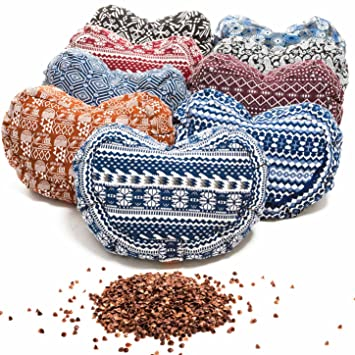 #DoYourYoga Cushion / Pillow for Yoga or Meditation - Filled with Organic Buckwheat / Cover 100% Cotton & Size 17.7